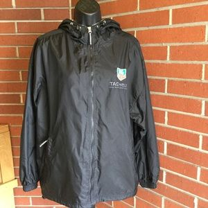 Black Water Repellent Lined Zip Jacket S